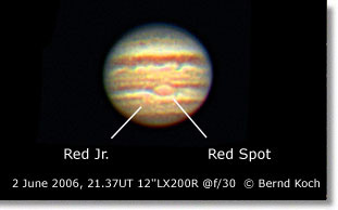 Jupiter GRS & Red Jr. 2 June 2006