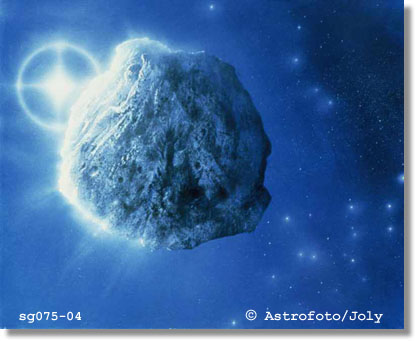Asteroid im Sonnensystem (Illustration)